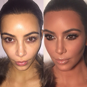 Kim's before and after via @makeupbymario Instagram